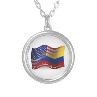 Colombian-American Waving Flag Custom Jewelry
