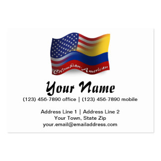 Colombian-American Waving Flag Pack Of Chubby Business Cards