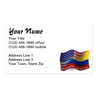 Colombian-American Waving Flag Pack Of Standard Business Cards