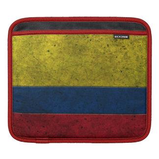 Colombian Flag Aged Steel Effect iPad Sleeve