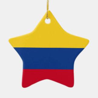 Colombian flag ceramic ornament