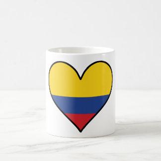 Colombian Flag Heart Coffee Mug