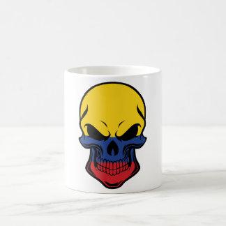 Colombian Flag Skull Coffee Mug