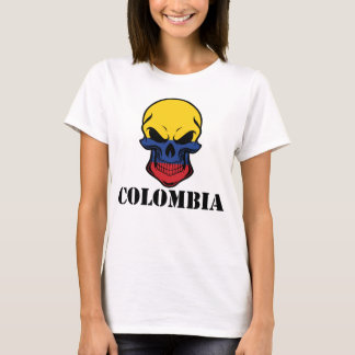 Colombian Flag Skull Colombia T-Shirt