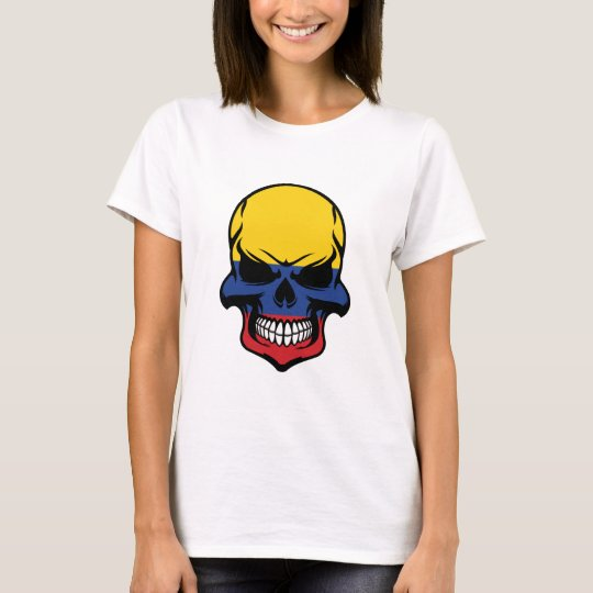 Colombian Flag Skull T-Shirt