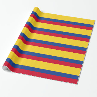 Colombian flag wrapping paper
