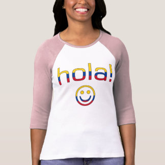 Colombian Gifts : Hello / Hola + Smiley Face T-Shirt