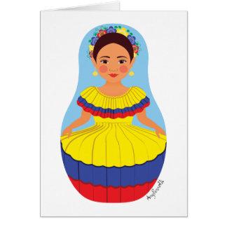 Colombian Matryoshka Card