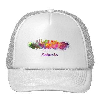 Colombo skyline in watercolor cap