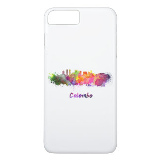 Colombo skyline in watercolor iPhone 7 plus case