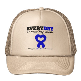 Colon Cancer Every Day I Miss My Mother Mesh Hats