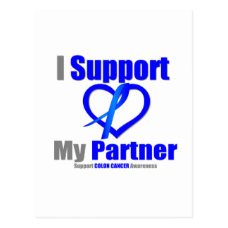 Colon Cancer I Support My Partner Postcard