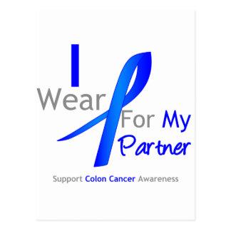 Colon Cancer I Wear Blue For My Partner Postcard