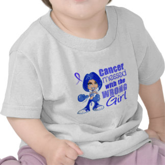 Colon Cancer Messed With Wrong Girl T-shirts