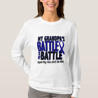 Colon Cancer MY BATTLE TOO 1 Grandpa T-Shirt