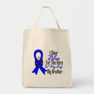 Colon Cancer Ribbon Hero My Brother Bag