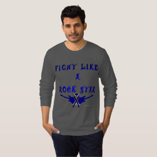 Colon Cancer Rock Star Men's Long Sleeve shirt