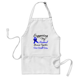 Colon Cancer Support (Husband) Aprons