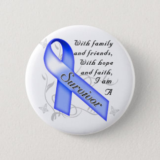 Colon Cancer Survivor 6 Cm Round Badge