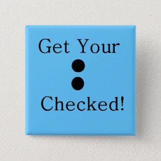 Colon Check 15 Cm Square Badge