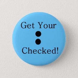 Colon Check 6 Cm Round Badge