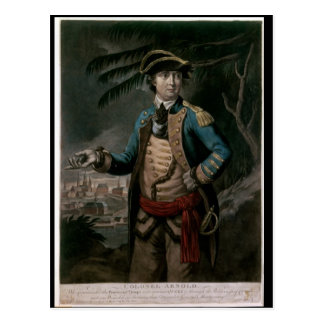 Colonel Benedict Arnold, pub. London, 1776 Postcard