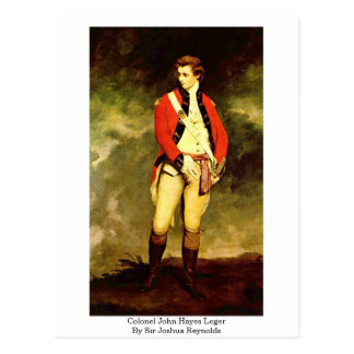 Colonel John Hayes Leger By Sir Joshua Reynolds Postcard