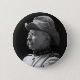 Colonel Theodore Roosevelt from 1898 6 Cm Round Badge