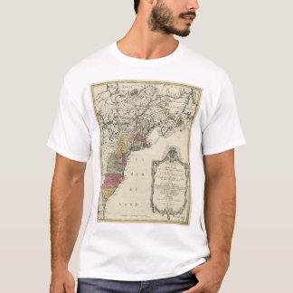 Colonial America Map by Matthaus Lotter (1776) T-Shirt