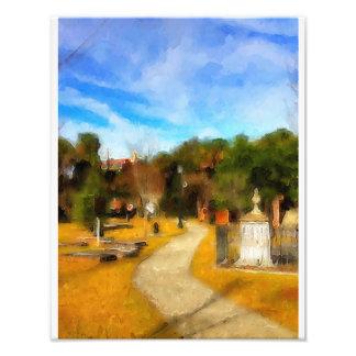 Colonial Cemetery Savannah Photographic Print
