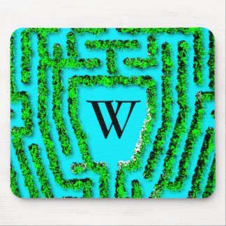 Colonial Maze design-personalize with your initial Mouse Pad