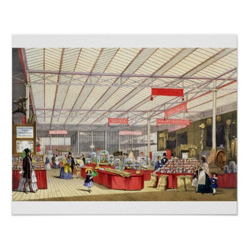 Colonial Produce in the Great Exhibition of 1851, Poster