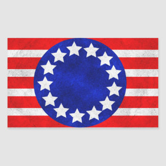 Colonial Stars and Stripes Stickers