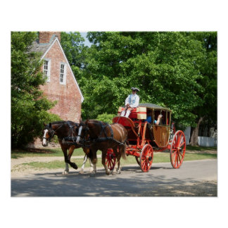 Colonial Williamsburg Carriage - Print
