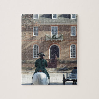 Colonial Williamsburg Man on Horse Jigsaw Puzzle