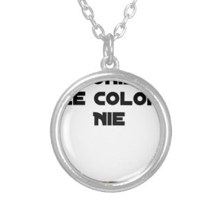 COLONIES, the COLONIST DENIES - Word games Silver Plated Necklace