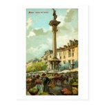 Colonna del Verziere, Milan, Italy Vintage Postcard