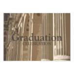 Colonnade Graduation Invitation 13 Cm X 18 Cm Invitation Card