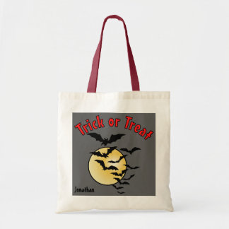 Colony of Bats and Full Moon Trick or Treat Candy Budget Tote Bag