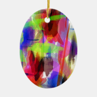 color abstract (8) ceramic oval decoration