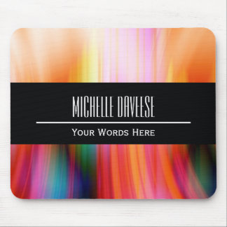 Color Abstract and Black Business Set | Mousepad