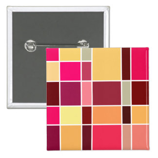 Color Abstract Composition 15 Cm Square Badge