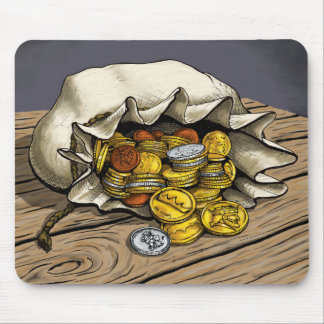 Color Bag of Gold Mouse Pad