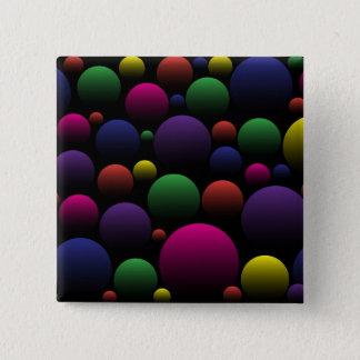 Color Balls 15 Cm Square Badge