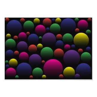 Color Balls 13 Cm X 18 Cm Invitation Card