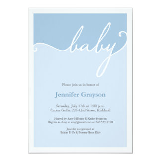 Color Band Baby Shower Invitation in Blue