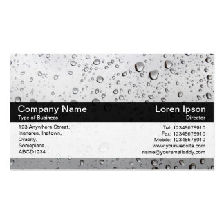 Color Band - Black - Rain on My Window Business Card Templates