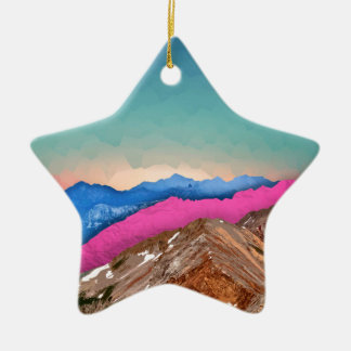 Color Band Mountains Ceramic Star Decoration