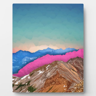 Color Band Mountains Photo Plaque