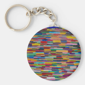 Color Bars Art Basic Round Button Key Ring
